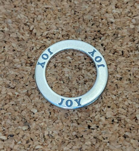 """/""""Joy/"""" Affirmation Cercle Argent Sterling 925 Pendentif USA"""