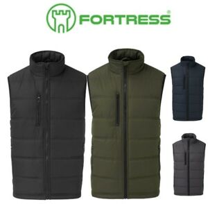 FORTRESS-Mens-QUILTED-WARM-Waistcoat-BODY-WARMER-Jacket-Gilet-WORK-PLAY