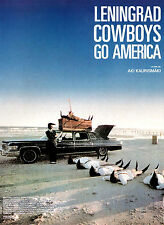 Affiche 40x60cm LENINGRAD COWBOYS GO AMERICA (1989) Peter Jackson TBE