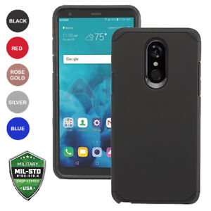 pretty nice c62da aa20b Details about For LG STYLO 4 Hybrid Slim Fit Hard Cover Phone Case  Accessories