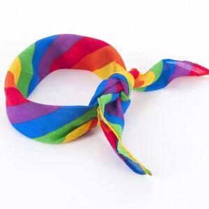Rainbow Multicoloured Headband Bandana Hairband Bow Tie Hair Scarf Hippy