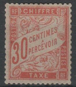 FRANCE-STAMP-TIMBRE-TAXE-34-034-30c-ROUGE-ORANGE-034-NEUF-xx-TTB-RARE-K996