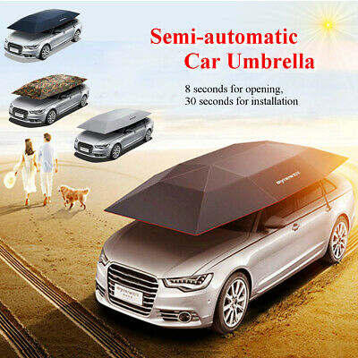Semi-automatic Car Tent Cover Outdoor Car Umbrella Sunshade Roof Cover  P