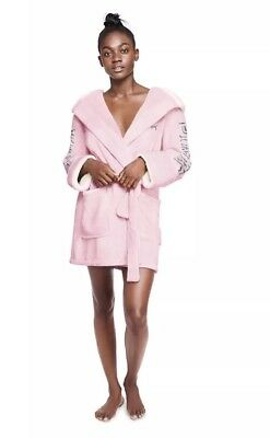 Beautiful Victoria's Secret Pink Bling Sherpa Lined Robe ~ Xsmall/small Suitable For Men And Women Of All Ages In All Seasons Teddies Intimates & Sleep