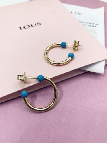 918543580 Original TOUS Vermeil Batala Hoop Earrings