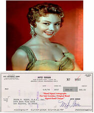 MITZI GAYNOR   AMERICAN FILM STAR ACTRESS  SIGNED BANK CHEQUE / CHECK 1978  RARE