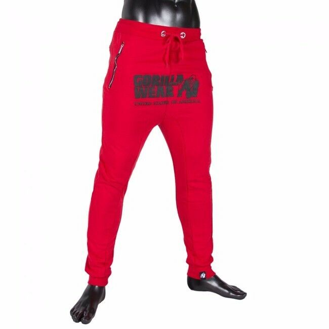 Gorilla Wear Alabama Drop Credch Joggers – Red red Bodybuilding Fitness