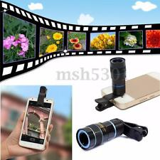 8x Zoom Telescope Lens Back for Mobile Cell iPhone 6 6S Camera w/ Universal Clip