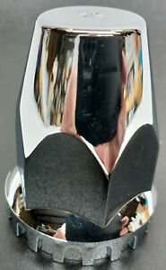 Single UP 10064 33mm threaded Chrome Lug Nut Cover for OTR Semi Truck