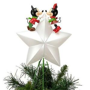 Details About Disney Mickey And Minnie 2012 Light Up Christmas Tree Topper New