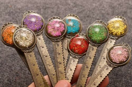 Metal Flower Bookmark Rulers-Choice of Several Colors