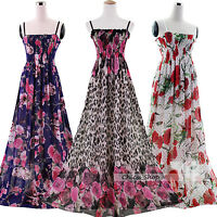 Women Plus Size Xtra Long Chiffon Maxi Prom Long Dress Size 20 22 24 26 28 30 32