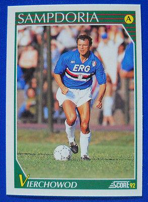 290 SAMPDORIA VIERCHOWOD OTTIMA EDICOLA !!! Panini Calciatori 1991//92 N