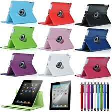 Colorful!! 360 Rotating PU Leather Case Smart Cover for iPad air 2 II 2nd Gen
