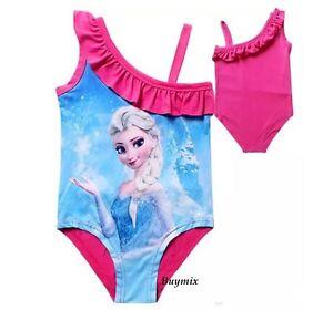 e6b63c51e9 Image is loading Disney-Princess-Frozen-Elsa-Anna-Swimsuit-Girls-Age-