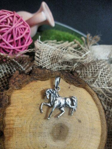 Anhänger Pferd Echt 925 Silber Handgemacht