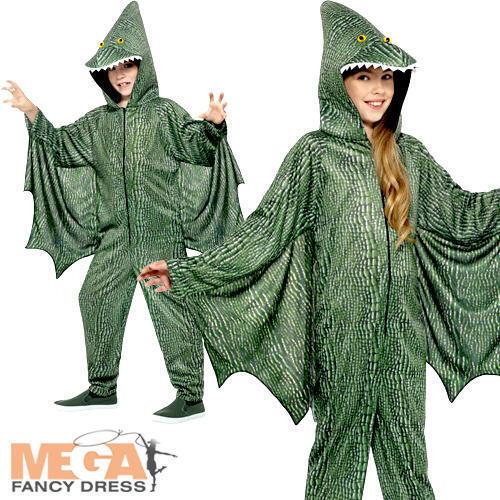 Pterodactyl Dinosaur Kids Animal Fancy Dress Halloween Dragon Childs Costume New