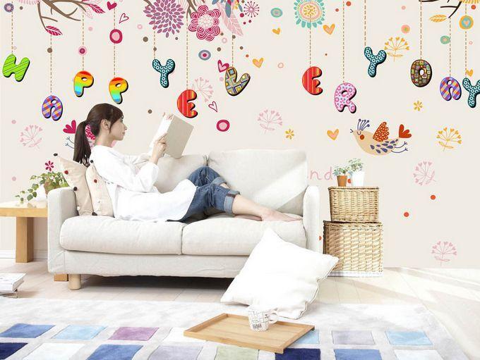 3D Carino Monogra Parete Murale Foto Carta da parati immagine sfondo muro stampa