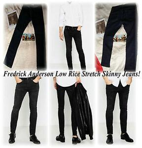 Fredrick-Anderson-Low-Rise-Skinny-Stretch-Dark-Blue-Jeans-Rare-Pos-Gay-int-HTF
