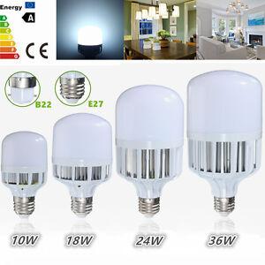 E27-B22-Bayonet-10-18-24-36W-5730-LED-Globe-Bulb-Light-SMD-Lamp-Cool-White-220V
