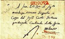 Z14444-REGNO DI SARDEGNA, PREF., DA GENOVA A MILANO, 1824
