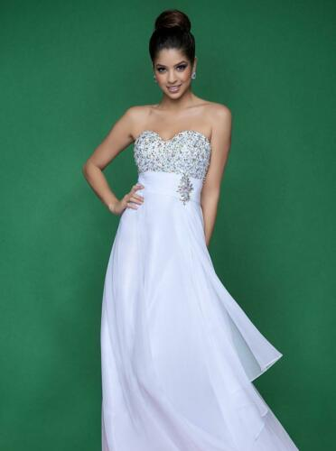 80% off Prom Dress BLUSH PROM 9610 Color: White Si