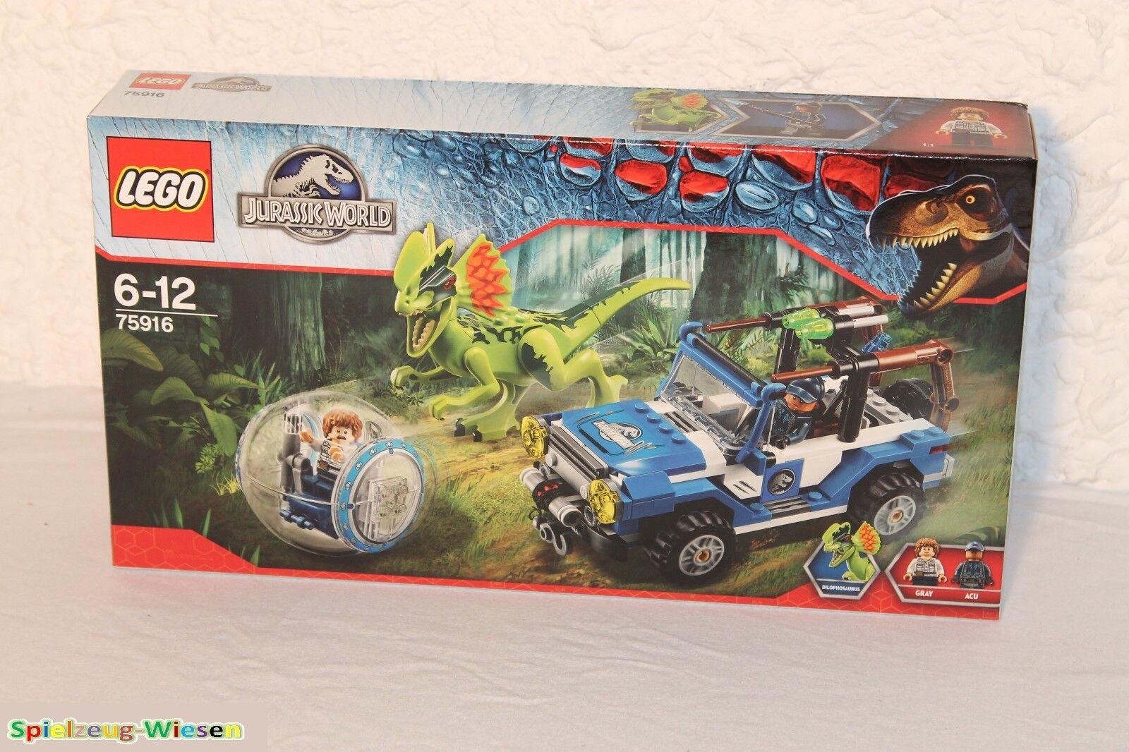 Lego ® Jurassic World ™ 75916 sobre caso del dilofosaurio-nuevo con embalaje original -