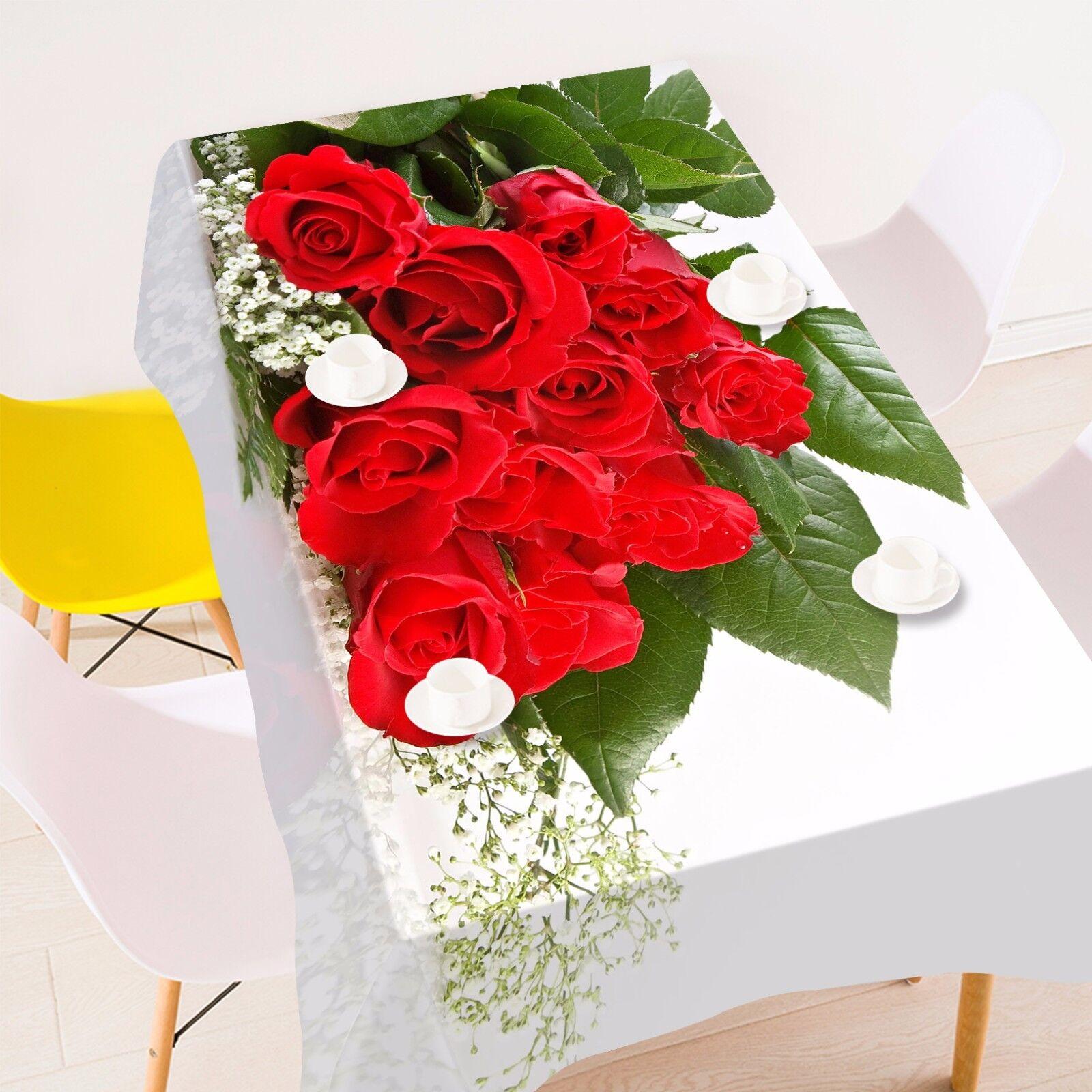 3D Bouquet 4 Nappe Table Cover Cloth fête d'anniversaire AJ papier peint Royaume-Uni Citron