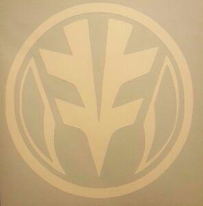 White Power Ranger Logo Vinyl Sticker Decal Home Laptop Choose Size