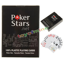 Jumbo Index PokerStar 100% PLASTIC Deck Playing Cards Poker Standard Casino Size