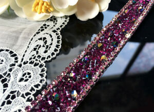 Image is loading Crystal-Rhinestone-Ribbon-Trims-Edging-Strap-Sewing-Cloth- fc822cec7