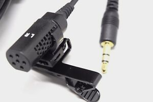 Stereo Omnidirectional LAPEL LAVALIER MICROPHONE for Camcorders, Voice Recorders