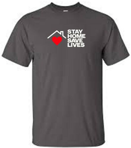 social distance t shirt stay home save lives heart