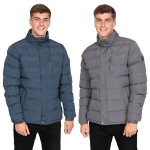 Trespass-Boyce-Mens-Waterproof-Padded-Jacket-Casual-Coat-In-Grey-amp-Navy