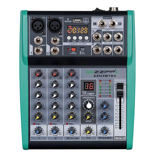 stile classico MIXER 4 4 4 CANALI CON EFFETTI VOCE LETTORE MP3 USB blutooth PER KARAOKE DJ NOVITÀ  Prezzo al piano