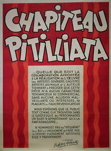 """""""les 2 Pitilliatas (professeur Maladolli)"""" Affiche Originale Entoilée Harfort Kqggxvrk-07172828-710101993"""