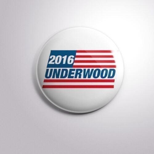 "Pinbacks Badge Button 2 1//4/"" 59mm FRANK UNDERWOOD 2016 PRESIDENTIAL Nº7"