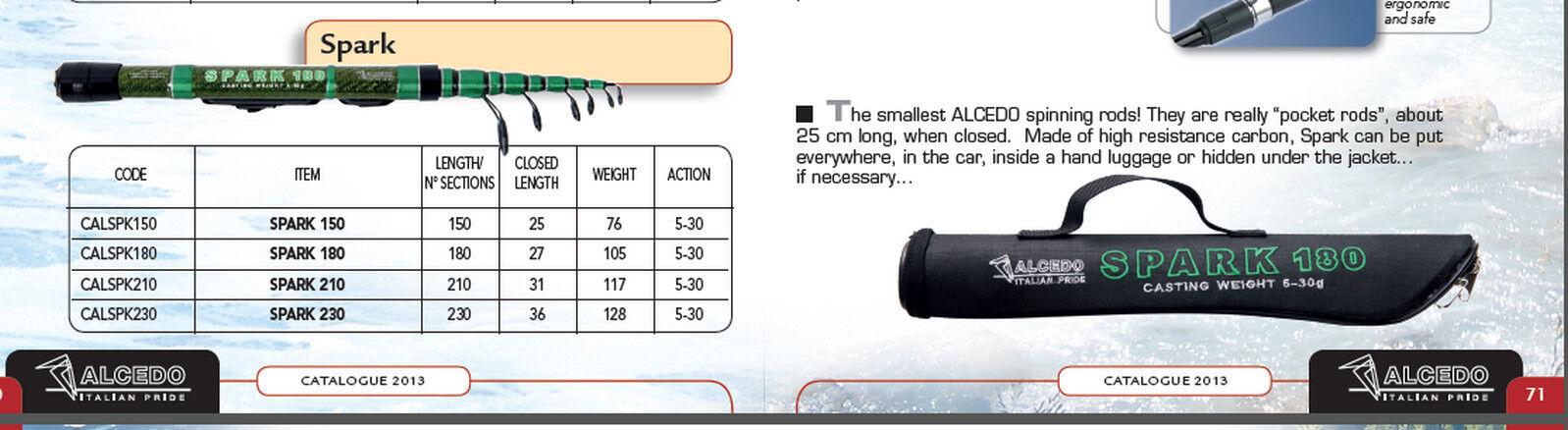 Alcedo Travel  Rods 25cm closed luxury case 4 versions 1.5m to 2.3 m long