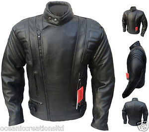 CE-ARMOURED-Leather-Motorcycle-Motorbike-Racing-Jacket-XS-11XL