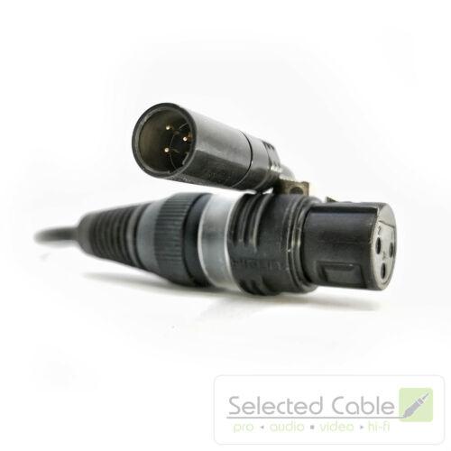auf XLR m w 25cm Tiny Adapter Kabel Mikrofon Blackmagic Kamera Mini-XLR