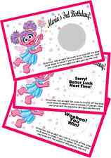 ABBY CADABBY SCRATCH OFF GAMES CARDS BIRTHDAY PARTY FAVORS SCRATCH OFFS GAME