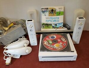 Nintendo-Wii-Sports-Bundle-amp-Super-Mario-2-Wiimotes-Remotes-Tested-Working