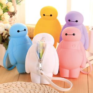 SILICONE BIG HERO 6 BAYMAX KAWAII PENCIL CASES MULTI FUNCTIONAL STATIONERY PEN