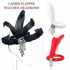 Gatsby-Hairband-Piuma-Copricapo-Fascia-Capelli-Accessori-Per-Festa-Vintage