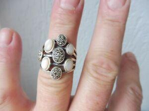Bella, vecchio anello argento 925 con pietre