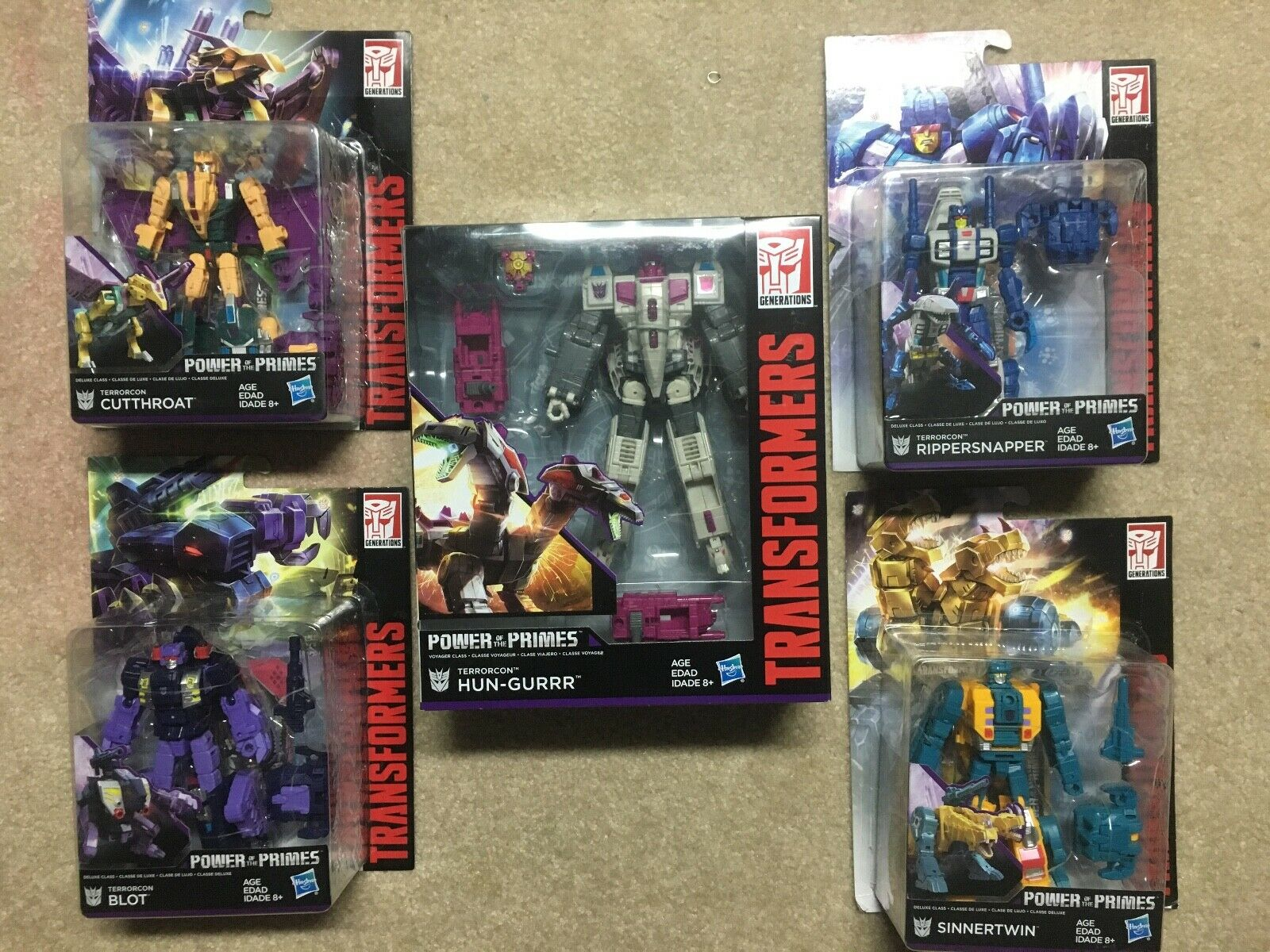 TRANSFORMERS GENERATIONS energia OF THE PRIMES TERRORCON SET ABOMINUS nuovo