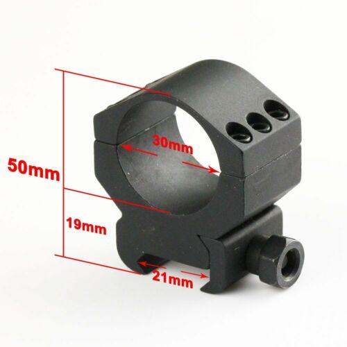 Monture de Lunette Tactique Anneaux Pour Rail de Tisserand Picatinny de 21mm