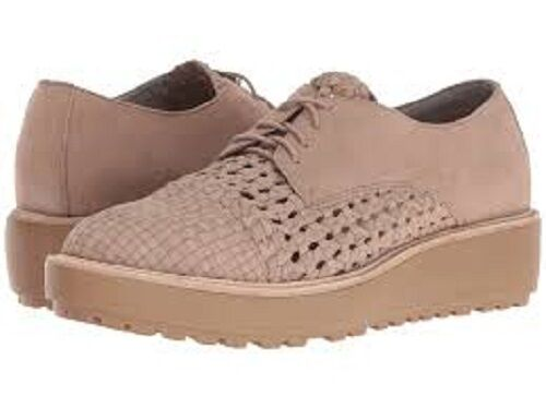 New Eileen Fisher  Art to Wear  Earth Oath Lace Up Weave Platform shoes 10 M