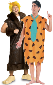 Image is loading Couples-Mens-Fred-Flintstone-AND-Barney-Rubble-TV-  sc 1 st  eBay & Couples Mens Fred Flintstone AND Barney Rubble TV Film Cartoon ...