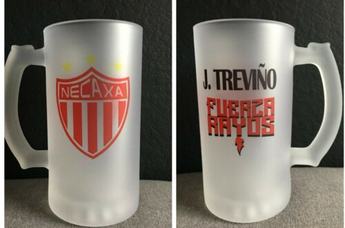 16oz Frosted Glass Beer Mug Rayos Del Necaxa Tarro Message me to add a name